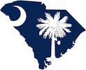 South Carolina Flag Map